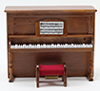 CLA02754 - Upright Piano W/Bench