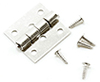 Butt Hinges With Nails, 4/Pk, Satin Nickel