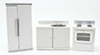 CLA06281 - Contemp. Kitchen Set, White, 3Pc