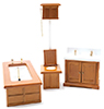 CLA06406 - Bathroom Set/3, Vict Wood
