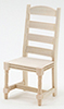 CLA08677 - Ladder Back Side Chair, Unfinished