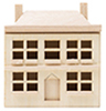 CLA08680 - Doll'S Doll House, Unfinished