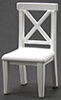 CLA10010 - Cross Buck Chair, White