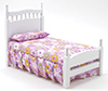 CLA10065 - Single Bed, White