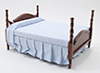 CLA10087 - Double Bed, Walnt, Asst Fab