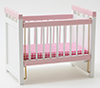 CLA10362 - Discontinued:Crib, Pink/White