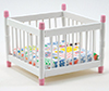 CLA10366 - Playpen, White/Pink