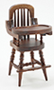 CLA10385 - High Chair, Walnut