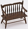 CLA10512 - Deacon Bench, Walnut