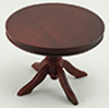 CLA10546 - Round Pedestal Table, Mahogany