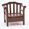 CLA10735 - Garden Chair, Walnut