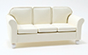 CLA10895 - Leather Sofa, Cream
