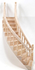 CLA70222 - Stairs, 2-Rail, Right Curve, Assembled