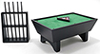 Pool Table Set/24, Black