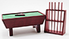 ^Az91323 ^Pool Table Set/24, Mahogany (Clam)