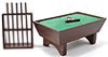 Pool Table Set/24, Walnut (Clam)