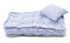 CLA99502 - Single Matress w/ Pillow, Blue/White