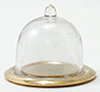 IM65052 - Gold Tray With Clear Dome