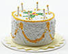 IM65224 - Yellow Birthday Cake