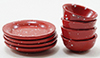 IM65305 - Red Enamel Dishes, 8Pc
