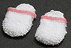 Women's Slippers White with Pink