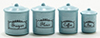 Canister Set, 4 Piece - Blue