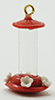Humming Bird Feeder, Red