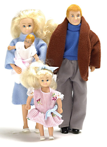 AZ00010 - Modern Doll Family, Blonde, 4Pc