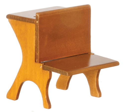 AZG2874 - School Desk-Walnut