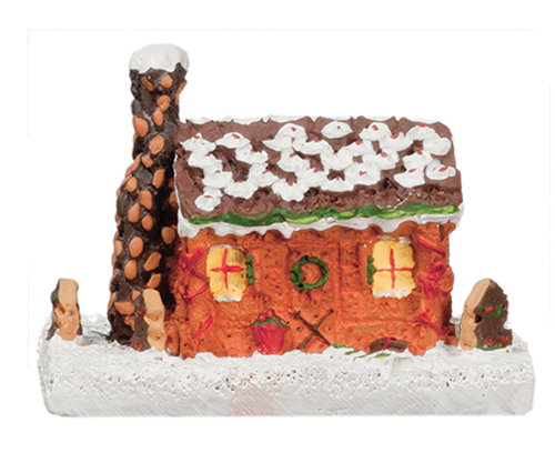 AZG3270 - 1 In Gingerbread Log Cabin