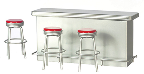 AZT5938 - 1950S Counter/3-Stls/Red