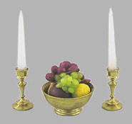 CART505BF - 1/2In Fruit Bowl W/Candlesticks