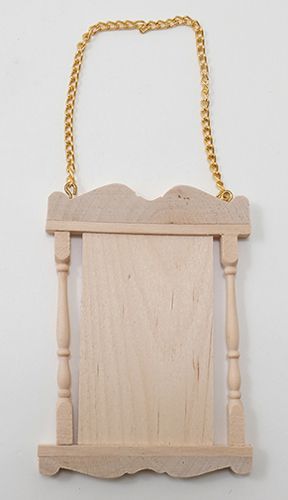 CLA70234 - Wooden Hanging Sign W/Chains