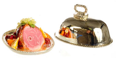 FCJU1002 - Ham And Fruits On Metal Tray