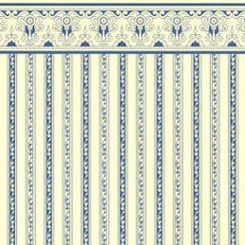 JM01 - Wallpaper: Regency, Blue Stripe