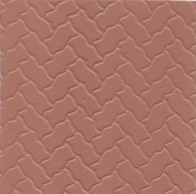 MBINTH12RB - Red Brick Pattern Sheet Paving Stones 14X24In