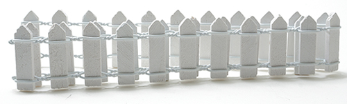 MUL5471 - 1 Inch White Picket Fence, 18 Inches Long