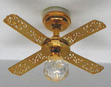 NCRA0111 - Small Brass Ceiling Fan