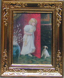 NCRA0190 - Girl/Dog Metal Frame 2 X 2 3/4