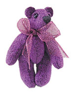 WMB6107 - Micro Mini Bear 1In Amatista 1Pc