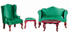 AZ03159 - Q A Living Room, Green, 4Pc/Cs