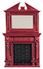 AZD0526 - Fireplace with Mirror/Mahog
