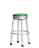 AZT5905 - 1950'S Style Stool, Dark Green