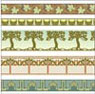 BPHAC100 - 1/2In Scale Wallpaper, 6pc: Arts & Crafts Borders