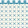 BPHAM102B - 1/2In Scale Wallpaper, 6pc: Stencil, Blue