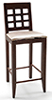 CLA10923 - Bar Chair, Walnut