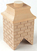 HW2408 - Wood Brick Chimney