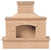 HW2409 - Wood Brick Outdoor Fireplace