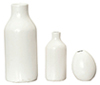HW4027 - Resin White Vases, 3 Pcs