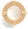 HWH5052 - 1/2 Scale: Round Window/Interior Trim